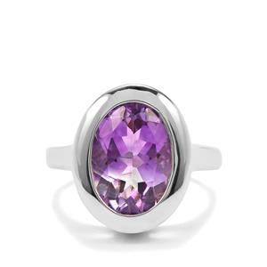 4.70ct 'Jewel of Boudi' Moroccan Amethyst Sterling Silver Ring