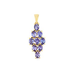 AA Tanzanite Pendant in 9K Gold 2.65cts