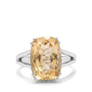 6.35ct Diamantina Citrine Sterling Silver Ring