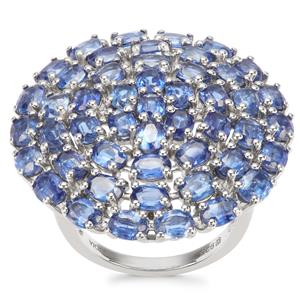 Daha Kyanite Ring in Platinum Plated Sterling Silver 10.14cts