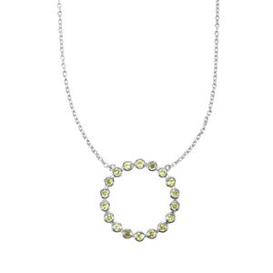Ambilobe Sphene Pendant Necklace in Sterling Silver 1cts