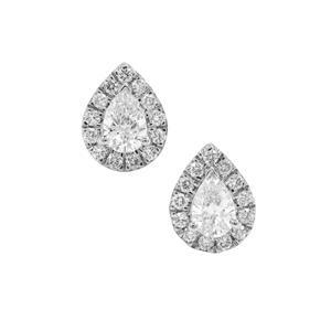 1/2ct Diamond Platinum 950 Earrings