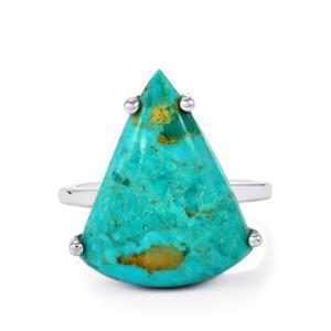 Cochise Turquoise Ring in Sterling Silver 9.72cts