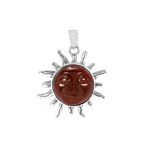 7.52ct American Fire Opal Sterling Silver Pendant