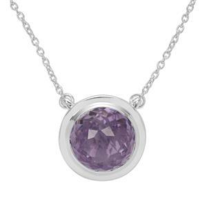 Eden Cut Rose De France Amethyst Necklace in Britannia Silver 8.15cts