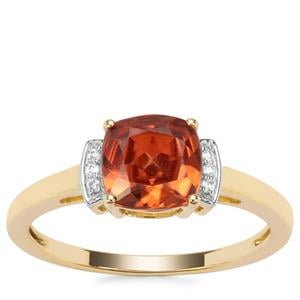 Umba Zircon Ring with White Zircon in 9K Gold 2.22cts
