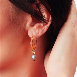 Molte Geo Hoop Earrings in Gold Plated Silver