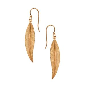Gold Plated Sterling Silver Leaf Earrings 4.76g