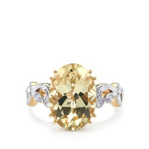 Serenite Ring with Diamond in 18k Gold 5.02cts