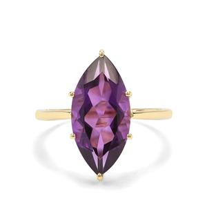 5.02ct Zambian Amethyst 9K Gold Ring