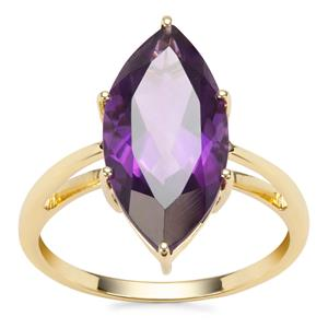 Zambian Amethyst Ring in 9K Gold 5.02cts