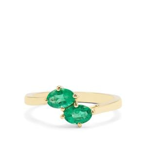 Ethiopian Emerald Ring in 9K Gold 0.89ct
