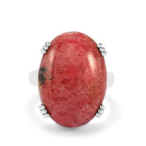 24.50ct Australian Rhodonite Sterling Silver Aryonna Ring