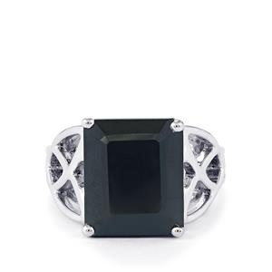 12.53ct Black Spinel Sterling Silver Ring