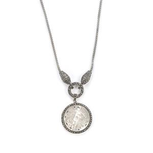 Mother of Pearl Necklace with Natural Marcasite in Sterling Silver