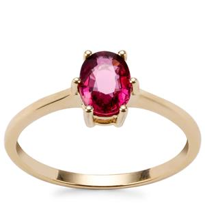 Malawi Garnet Ring in 10k Gold 1.06cts