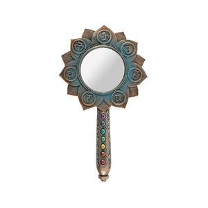 Bronze Lotus Flower Chakra Hand Mirror