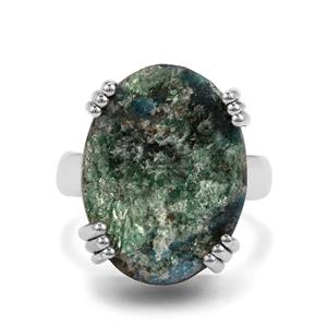 16ct Fuchsite Drusy Sterling Silver Aryonna Ring