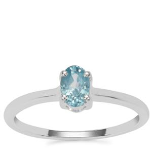 Ratanakiri Blue Zircon Ring  in Sterling Silver 0.73ct