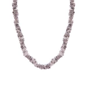 Tourmalinated Quartz Necklace in Sterling Silver 96.60cts