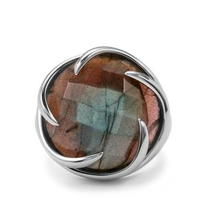20.32ct Labradorite Sterling Silver Sarah Bennett Cocktail Classics Ring