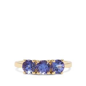 AA Tanzanite Ring in 9K Gold 1.57cts