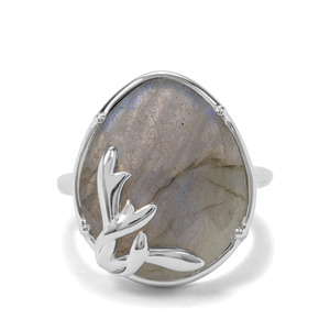 12.07ct Labradorite Sterling Silver Ring