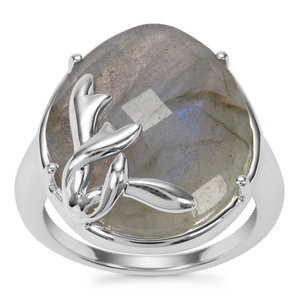 Labradorite Ring in Sterling Silver 12.07cts