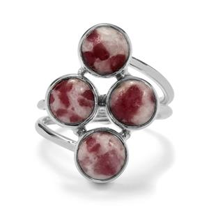 7ct Lepidolite Sterling Silver Aryonna Ring