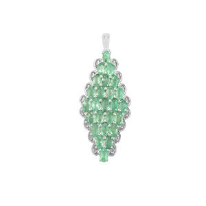 Zambian Emerald Pendant in Sterling Silver 5.83cts