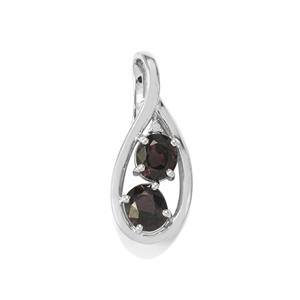 Burmese Multi-Colour Spinel Pendant with Diamond in Sterling Silver 2.79cts