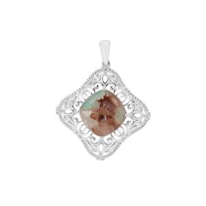 Aquaprase™ Pendant with White Zircon in Sterling Silver 8.20cts