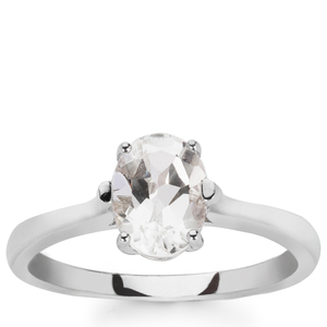 1.42ct White Topaz Sterling Silver Ring
