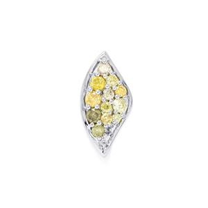 1/3ct Natural Fancy Diamond Sterling Silver Pendant