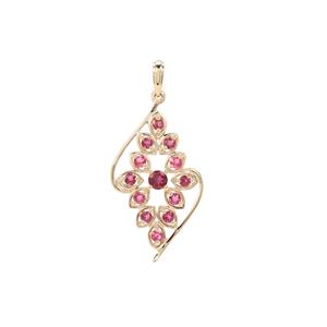 Pederneira Tourmaline Pendant in 9K Gold 1cts