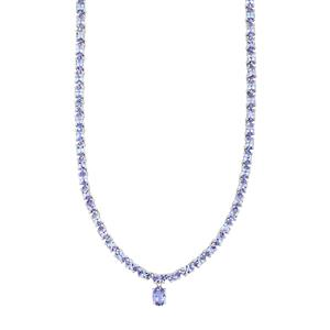 AA Tanzanite Necklace in Sterling Silver 16.72cts