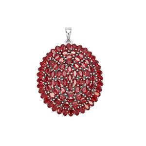 29.48ct Malagasy Ruby Sterling Silver Pendant (F)