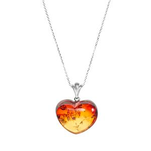 Ombre Baltic Amber (25x29mm) Sterling Silver Necklace