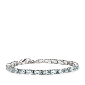 Sokoto Aquamarine Bracelet in Sterling Silver 9.29cts