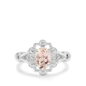 Rose Danburite Ring in Sterling Silver 1.22cts