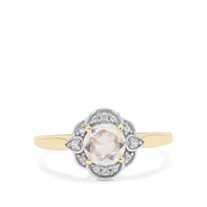 Rose Cut Ratanakiri Zircon Ring in 9K Gold 1.09cts