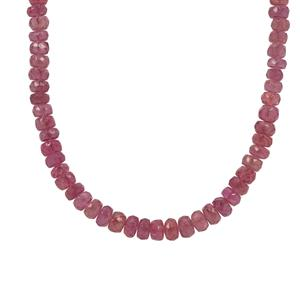 Montepuez Ruby Necklace in Sterling Silver 95cts (F)