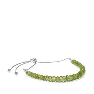 Changbai Peridot Slider Bracelet in Sterling Silver 19.50cts