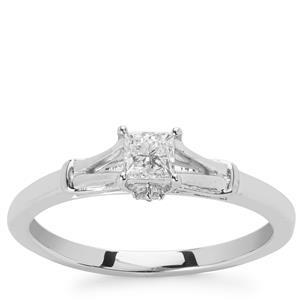 Diamond Ring in Platinum 950 0.35ct