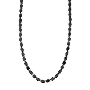 Black Spinel Necklace in Sterling Silver 45.08cts