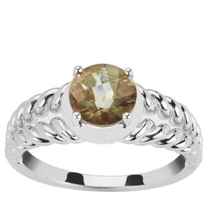 1.22ct Green Andesine Sterling Silver Ring