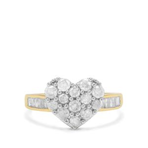1ct Diamond 9K Gold Tomas Rae Heart Ring