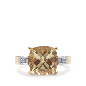 Serenite Ring with Diamond in 18K Gold 3.90cts