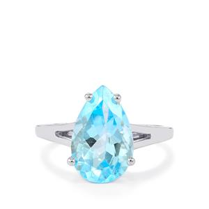 Sky Blue Topaz Ring in Sterling Silver 5.50cts