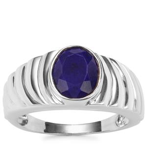 Sar-i-Sang Lapis Lazuli Ring in Sterling Silver 2.53cts